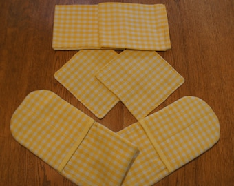 Kitchen ensemble --  Fresh Yellow Check