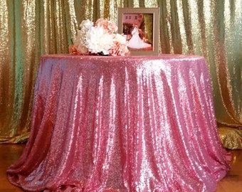 Candy Pink Sequin Tablecloth, Sequin tablecloth