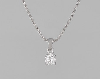 Necklace 14 k gold 1 CT Center diamond