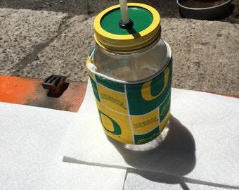 mason jar drinking mug