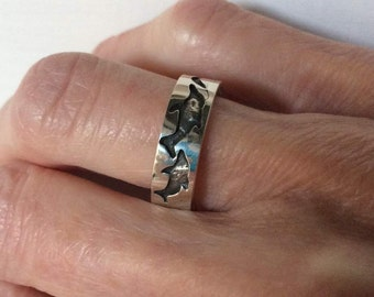 Sterling animal band-size 6 1/2-#251