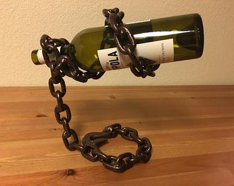 Chainlink Wine Bottle Holder