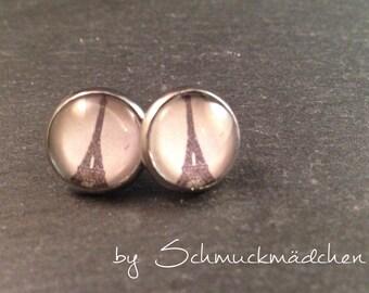 Earrings silver Eiffel Tower