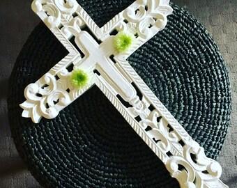White Celtic cross