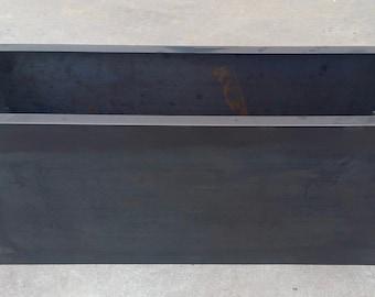 """Blackened COR_TEN Steel Planters - 36"""" Long"""