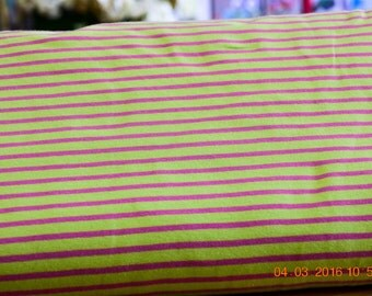Jersey stripes Green/Pink striped by Hilco