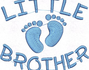 Little Brother Embroidery Design, Embroidery Designs, Embroidery, Little Brother, Siblings Embroidery design, new baby embroidery design,