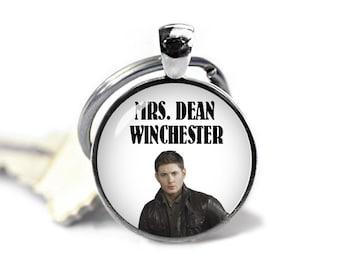 Mrs Dean Winchester Key Ring Keychain Keyfob Supernatural Geeky Fangirl Fanboy