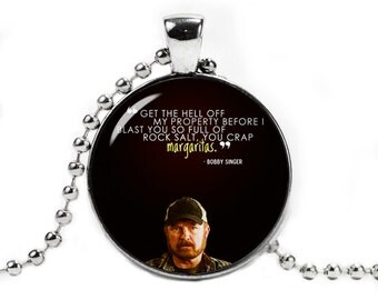 Supernatural Pendant Necklace Bobby Singer Quote Fandom Jewelry Geeky Fangirl Fanboy