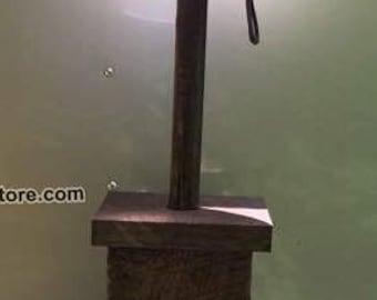 Handmade, primitive lamp