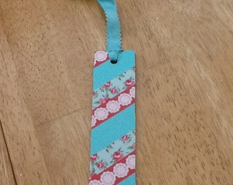 "6"" handmade bookmark with matching ribbon"