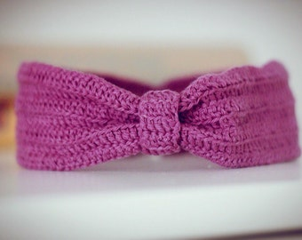 Lilac headband for girls