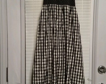 Vintage 60's - 70's Young Edwardian by Arpeja Halter Peasant Maxi Dress