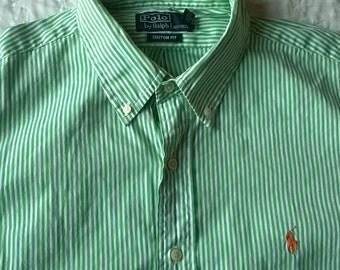Man Polo by Ralph Lauren - Green striped shirt