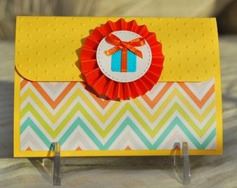 Birthday Pop-Up Gift Card Holder - Present Rosette
