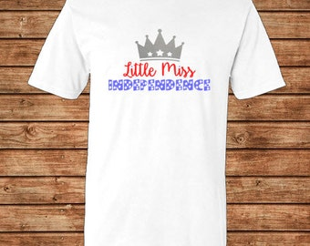 Little Miss Independence Vinyl T-shirt or Tank