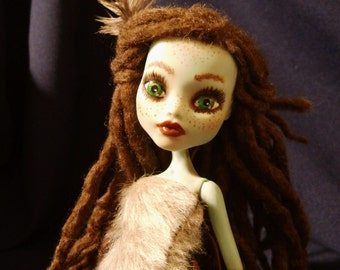 Monster high OOAK repaint doll wild Miss