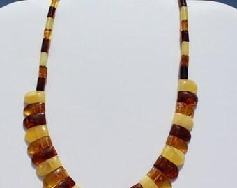 Handmade necklace original Baltic amber