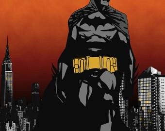 Original Batman Fan Art Print