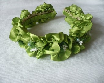 Green Silk Headband