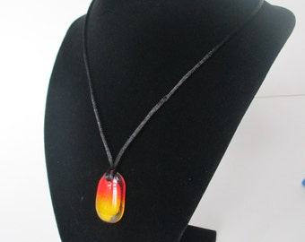 Orange and Yellow - Fused Glass Pendant