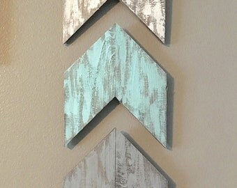 Chevrons, Rustic Wood Painted Arrows, Chevron arrows,  Rustic Wood, Home Decor, wall hangings, Rustic Wood Art, Hand Painted,