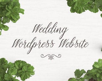 Wordpress Wedding Website - Wedding Website -  Website Design - Wedding - Custom Website