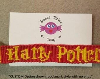 Handmade Harry Potter Logo Friendship Bracelet