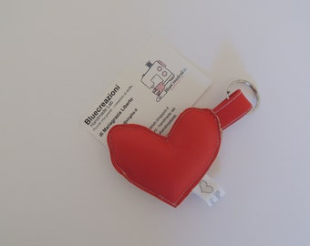 Faux Red Heart Keyring-Bluecreazioni Collection