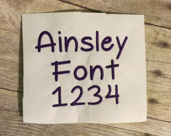 Ainsley Embroidery Font, Embroidery Font,