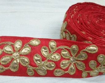 Red GotaPatti Lace 10 Yards