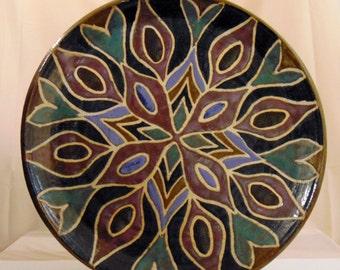 Mandala Platter: Stoneware