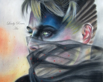Otep print of a drawing