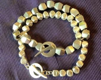 Nugget Silver Bracelet