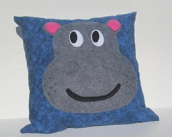 "18"" Hippo Pillow"