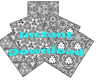 15 coloring pages, Instant download