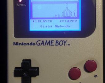 Nintendo Gameboy Original DMG-01 With Backlight And Bivert LCD Mod