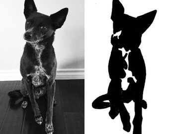 Black & White Custom Dog