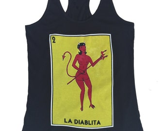 La Diablita Mexican Loteria Cards Women Tank Top