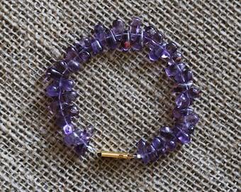 Amethyst Bracelet-gold
