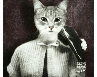 Cat Card | Funny Cat Photo Card | Cat Greetings Card | Cat Lovers Notecards | Animal Cards | Handmade Cards | Cat Art | Cat Stationary