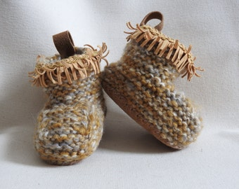 Cozy hand knit MeMa Moccasins