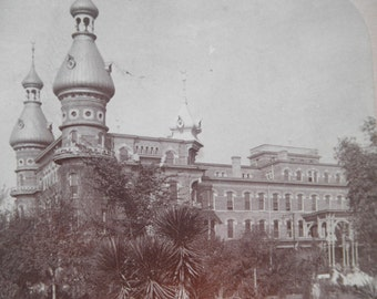 Atique Stereoview Stereo View of Tampa Bay Hotel Florida Early 1900's  Griffith Stereoview Photo Tampa Florida
