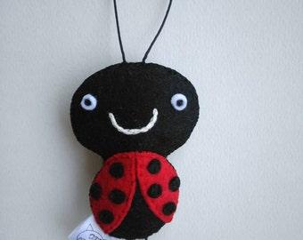 Catnip Toy Ladybug, Cat toy Ladybug