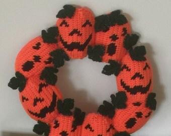 Halloween Jack-o-Lantern Wreath