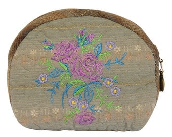 Coin Purse - Embroidered - Handmade