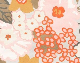 Alexander Henry Floral Fabric Mara Oyster Large Flower Print