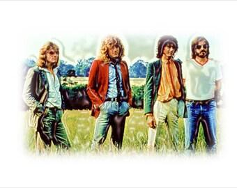 Led Zeppelin - Framed Print Art