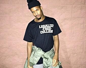 Legalize -Free- College Varsity Block Tee