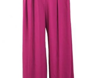 Sonia Rykiel Magenta color tuck pants